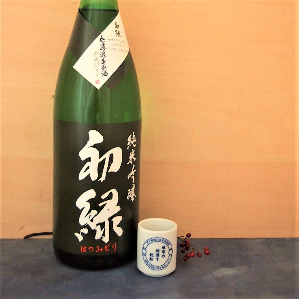 初緑 純米吟醸 緑ラベル 1800ml